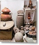 Barriles Pottery Indian Metal Print
