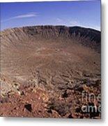 Barringer Crater, Fisheye View Metal Print