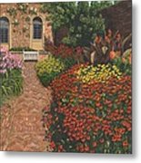 Barrington Court Gardens Somerset Metal Print