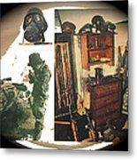 Barry Sadler And Part Of His Weapon's  Nazi Memorabilia Collection Collage Tucson Arizona 1971-2013 Metal Print