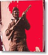 Barry Sadler Machine Gun Authentic Ww2 Africa Korps Hat Camouflage Clothes Collage Tucson 1971-2012 Metal Print