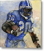 Barry Sanders Metal Print by Michael  Pattison