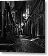 Bars In The Alley Metal Print