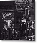 Bars On Broadway Nashville Metal Print by Dan Sproul