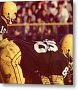 Bart Starr Ready For Snap Metal Print