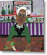 Bartender At The Country Club Metal Print