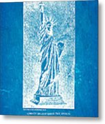Bartholdi Statue Of Liberty Patent Art 1879 Blueprint Metal Print