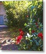 Bartram Red Flowers Metal Print