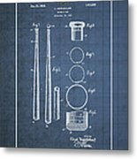 Baseball Bat By Lloyd Middlekauff - Vintage Patent Blueprint Metal Print