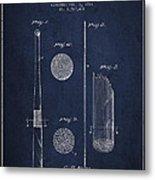 Baseball Bat Patent Drawing From 1921 Metal Print