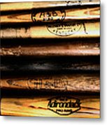 Baseball Bats Metal Print
