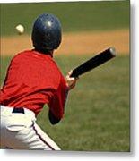 Baseball Batter Metal Print