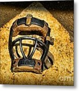 Baseball Catchers Mask Vintage  Metal Print by Paul Ward