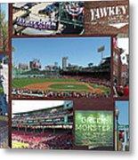 Baseball Collage Metal Print