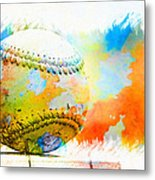 Baseball- Colors- Isolated Metal Print