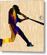 Baseball Game Art Metal Print