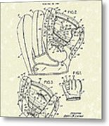 Baseball Glove 1953 Patent Art Metal Print by Prior Art Design