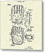 Baseball Glove 1970 Patent Art Metal Print by Prior Art Design