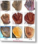 Baseball Glove Evolution Metal Print