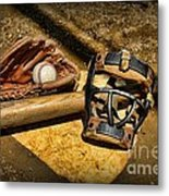 Baseball Play Ball Metal Print by Paul Ward