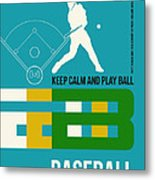 Baseball Poster Metal Print