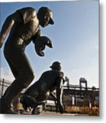 Baseball Statue At Citizens Bank Park Metal Print
