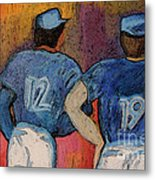 Baseball Team By Jrr  Metal Print