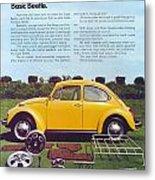 Basic Beetle  Metal Print