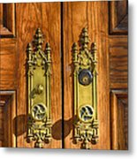 Basilica Door Knobs Metal Print