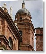 Basilica Of Saint Lawrence Steeple Metal Print