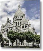 Basilica Of The Sacred Heart Paris France Metal Print