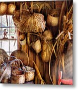 Basket Maker - I Like Weaving Metal Print by Mike Savad