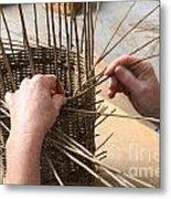 Basket Making Metal Print