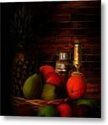 Basket Of Colors Metal Print by Lourry Legarde