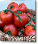 Basket Of Tomatoes  Metal Print