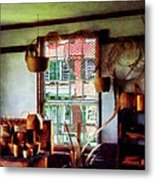 Basket Shop Metal Print