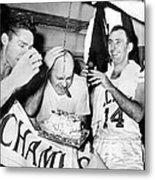 Basketball Champion Celtics Metal Print