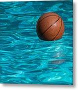 Basketball In The Pool  Metal Print