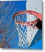 Basketball Net Metal Print