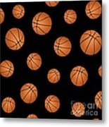Basketball Pattern Metal Print
