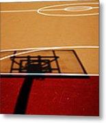 Basketball Shadows Metal Print