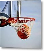 Basketball Shot Metal Print
