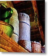 Baskets And Barrels In Attic Metal Print