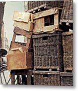 Baskets In Paris Metal Print