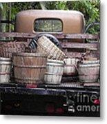 Baskets Of Feed Metal Print