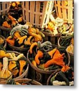 Baskets Of Gourds Metal Print