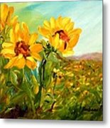 Basking In The Sun Metal Print by Barbara Pirkle