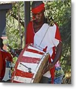 Bass Drummer Labadee Haiti Metal Print
