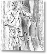 Bass Fiddle Blues Metal Print by Elizabeth Briggs