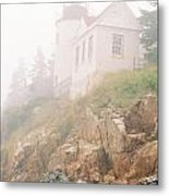Bass Harbor In Fog - Vertical Metal Print